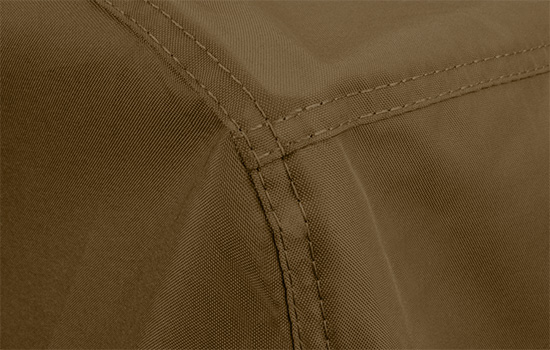 Truloom Polyester fabric expertly sewn with rot resistant marine grade thread.