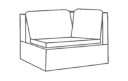 Corner Sectional Chair Cover
