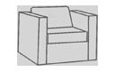 Modular Sectional Club Chair Cover
