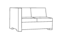 Right Arm Sectional Loveseat Cover