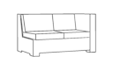 Left Arm Sectional Loveseat Cover
