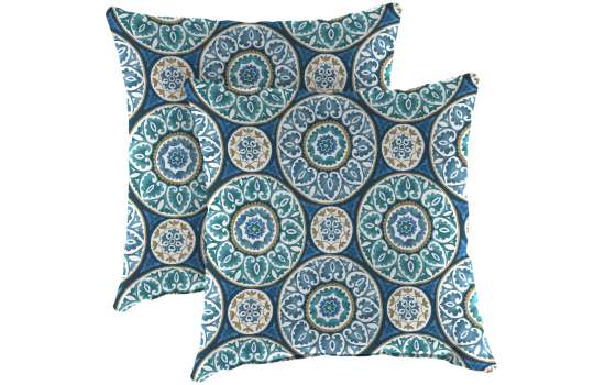 Outdoor Square Toss Pillows Set Of Two